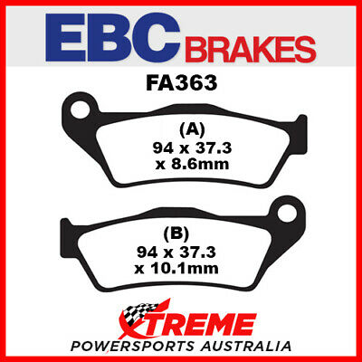 BMW R 1100 GS 93-99 EBC Organic Rear Brake Pads, FA363