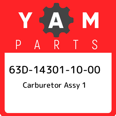 63D-14301-10-00 Yamaha Carburetor assy 1 63D143011000, New Genuine OEM Part