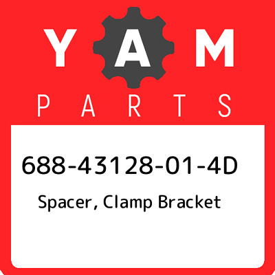 688-43128-01-4D Yamaha Spacer, clamp bracket 68843128014D, New Genuine OEM Part