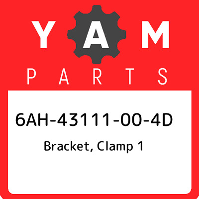 6AH-43111-00-4D Yamaha Bracket, clamp 1 6AH43111004D, New Genuine OEM Part