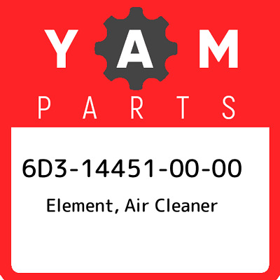 6D3-14451-00  Yamaha Element, Air Cleaner, New Genuine OEM Part