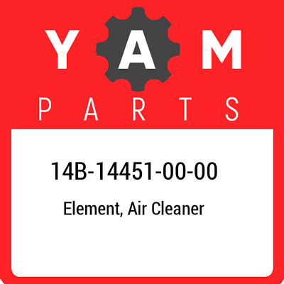 14B-14451-00  Yamaha Element, Air Cleaner, New Genuine OEM Part