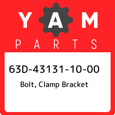 63D-43131-10-00 Yamaha Bolt, clamp bracket 63D431311000, New Genuine OEM Part
