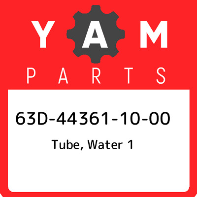 63D-44361-10-00 Yamaha Tube, water 1 63D443611000, New Genuine OEM Part