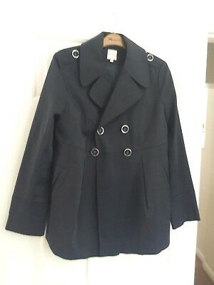 Blooming Marvellous Navy Blue Smart Tailored Maternity Jacket UK 8 (fits 10) VGC