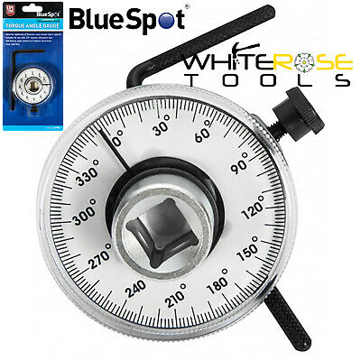 """BlueSpot 1/2"""" Drive Torque Angle Gauge Easy Read Face for Socket Ratchets"""