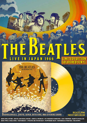 THE BEATLES LIVE IN JAPAN 1966 NEW VINYL LP NUMBERED -ONLY 1000 - RARE Yellow