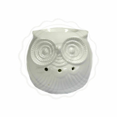 Classic White Oil Burner Short Owl - Home Fragrance Gift Cute Scents Wax Heater