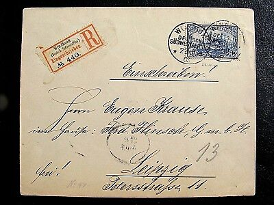 German South west Africa 1903 Reg. to Germany  V.Fine cover