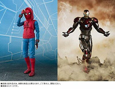 S.H.Figuarts Spider-Man (Homecoming) Home Made Suit ver. & Iron Man Mark47