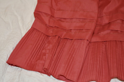 Adorable Coral Rose Vintage Skirt Steampunk Victorian Petticoat