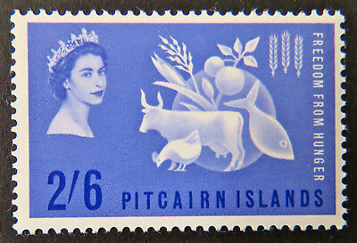 1963 Pitcairn Islands Pre Decimal Stamps: QEII Freedom from Hunger-Single 2'6MNH