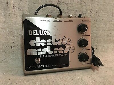 "Electro Harmonix Deluxe Electric Mistress Vintage RARE Misprint No Dot ""i"" Clean"
