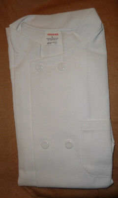 "Chef Coat, Double Buttons, Size L, Short Sleeves, NIP, ""Fashion Seal"""