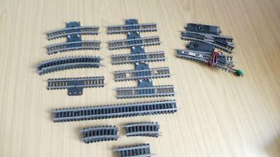CB72a: Collection of Rokal TT Gauge Track / Points - 26 Pieces