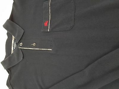BURBERRY LONDON Polo Casual Style British Anni 90 Vintage Blue Taglia S