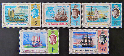 1967 Pitcairn Islands Pre Decimal Stamps: Bicentenary of Discovery - Set 5 MNH