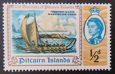 1967 Pitcairn Islands Pre Decimal Stamps: Bicentenary of Discovery - 1/2d MNH