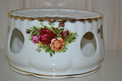 Royal Albert-Bone China-England-Old Country Roses-Stövchen-1962-Top wie neu!!!