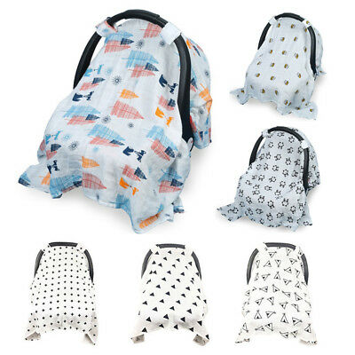 Multi-Use Stretchy Newborn Cotton Nursing Cover Baby Car Seat Canopy Cart Cover