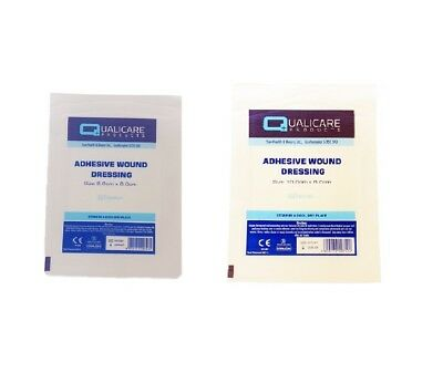ADHESIVE WOUND DRESSINGS Sterile First Aid Cut Graze Small Large Fabric Plasters