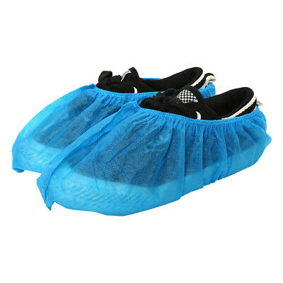 100 PCS Blue Disposable Shoe Covers Non-woven Overshoes Boot Cover Anti-slip