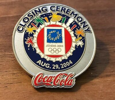 Coca-Cola Closing Ceremony Athens 2004 Olympic Pin