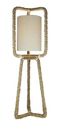 G4083: Maritime Floor Lamp, Floor Lamp, Rope Light, Large Side-Table 100 cm