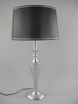 G1053: Designer Table Lamp, Polished Aluminium Lamp in 50 Piece Years Look 69 cm