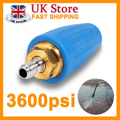 """3600PSI/250BAR Pressure Washer Blue Rotating Turbo Nozzle With1/4"""" Quick Plug PF"""