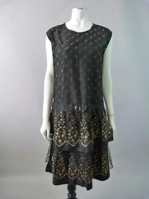 Vintage 1920s beaded flapper dress in superb condition - UK 8, 10, 12