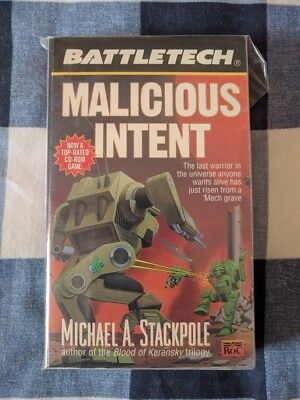 Malicious Intent BATTLETECH by Michael A Stackpole Book Novel Mechwarrior