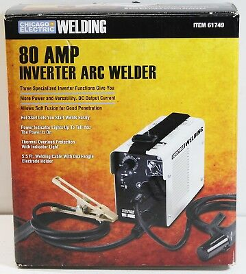 Chicago Electric Model 91110 / 61749 80-AMP Inverter ARC Welder