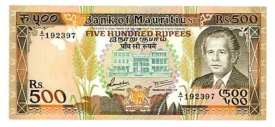 Mauritius ... P-40a ... 500 Rupees ... ND(1988) ... *(~)XF+*
