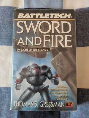Sword and Fire BATTLETECH (Twilight of the Clans) Thomas S Gressman Book Novel