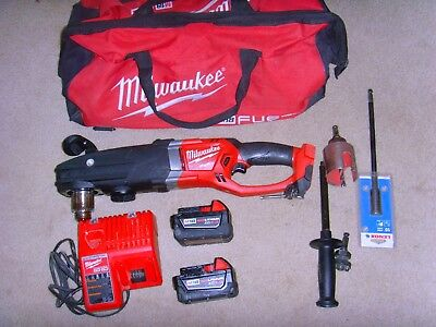 """Milwaukee M18 FUEL SUPER HAWG 1/2"""" Right Angle Drill Kit"""