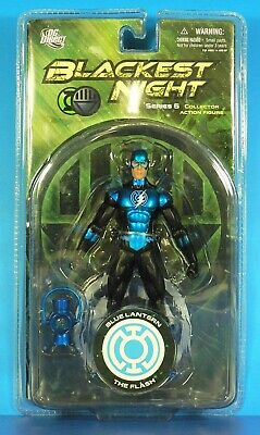 Blackest Night Series 6 Blue Lantern Flash 6in Action Figure DC Direct Toys