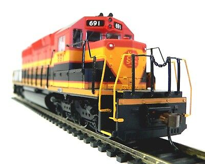 HO Scale Model Railroad Trains Layout Engine Kansas City Southern DC Locomotive