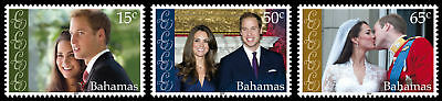 Bahamas 2011 Royal Wedding 3v set SG 1584/6 MNH