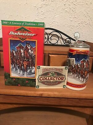 1999- Anheuser-Busch  A Century Of Tradition 1900-1999 Budweiser Holiday Stein