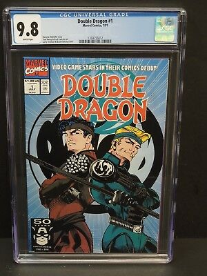Marvel Comics Double Dragon #1 1991 Cgc 9.8 White Pages Video Game Stars