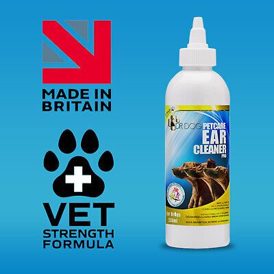 Dr Dog Ear Cleaner Drops Infection, Itching, Mites, Wax, Odour for Cat Pet Dogs