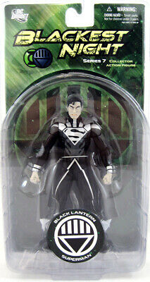 Blackest Night Series 7 Black Lantern SUPERMAN 7in Action Figure DC Direct Toys