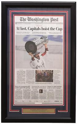 Washington Capitals Framed June 8 2018 Stanley Cup Champs Washington Post Cover
