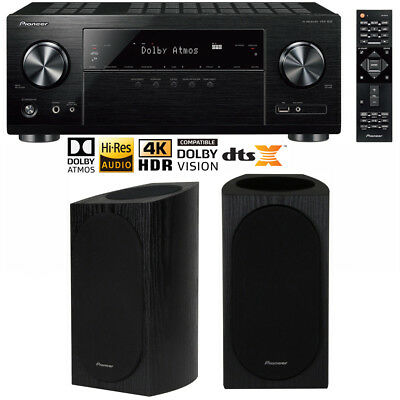 Pioneer VSX-832 5.1 Channel AV Receiver 4K Ultra HD Wi-Fi w/ Speaker Pair Bundle