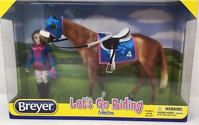 Breyer 1727 LET'S GO RIDING - RACING! 2015-17 Touch of Class Light Chestnut Ride
