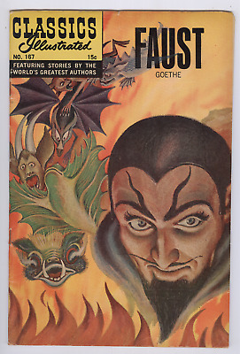 Classics Illustrated Comic #167 (1967) FN Faust HRN 166 1st Edition Silver Age