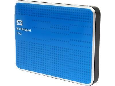WD 1TB External Hard Drive Portable My Passport WD Western Digital with USB Blue