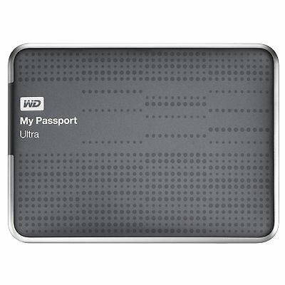 WD 1TB External Hard Drive Portable My Passport WD Western Digital with USB Grey