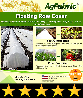 Agfabric Warm Worth Heavy Floating Row Cover & Plant Blanket, 0.9oz Fabric of 7